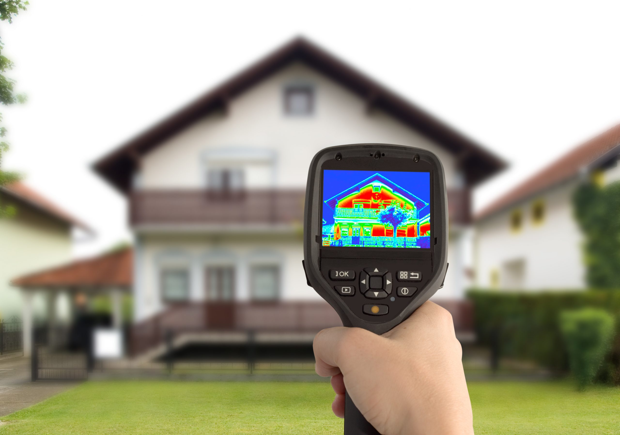 home inspector performing a home energy audit