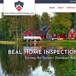 Beal Home Inspections Sample Website