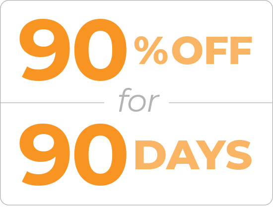 90 Percent Off for 90 Days